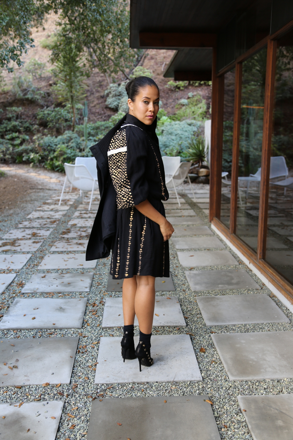 isabel-marant-black-sequin-dress-balmain-cage-heels-alexander-wang-button-up-margiela-jacket-los-angeles.jpg