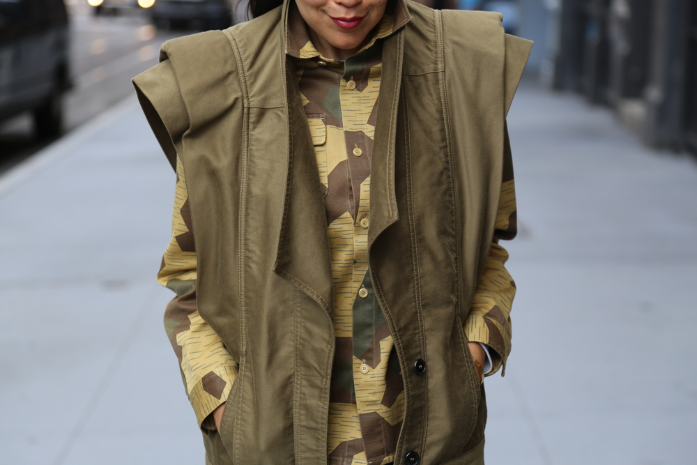 ACNE-CAMO-SHIRT-ISABEL-MARANT-VEST-GREEN-JBRAND-JEANS-SKINNY-ALEXANDER-WANG-BOOTS-VANESSA-BELETIC-NEW-YORK.JPG