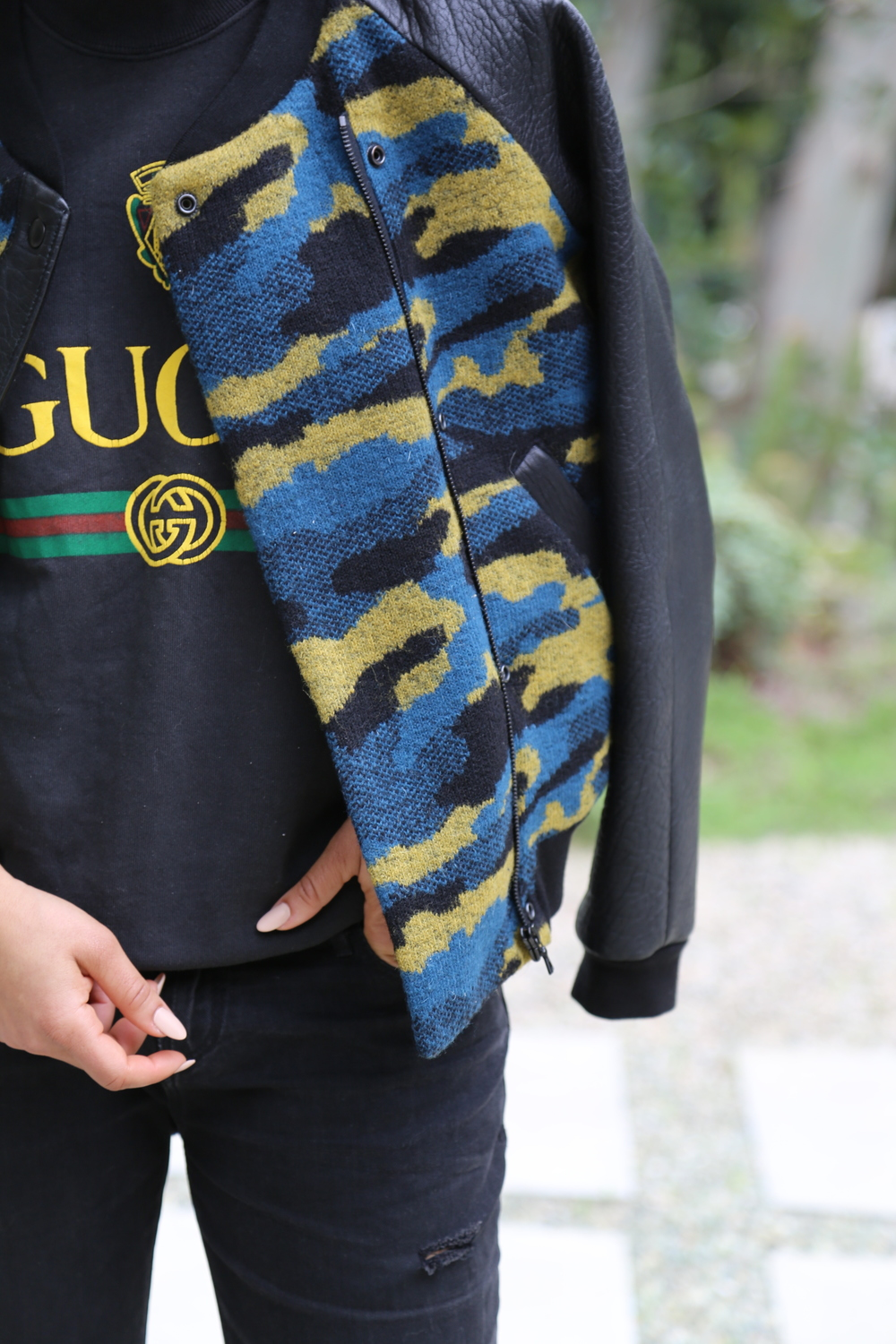 VANESSA-BELETIC-VINTAGE-GUCCI-SWEATSHIRT-GRYPHON-CAMO-JACKET-RTA-DENIM-LOS-ANGELES.JPG