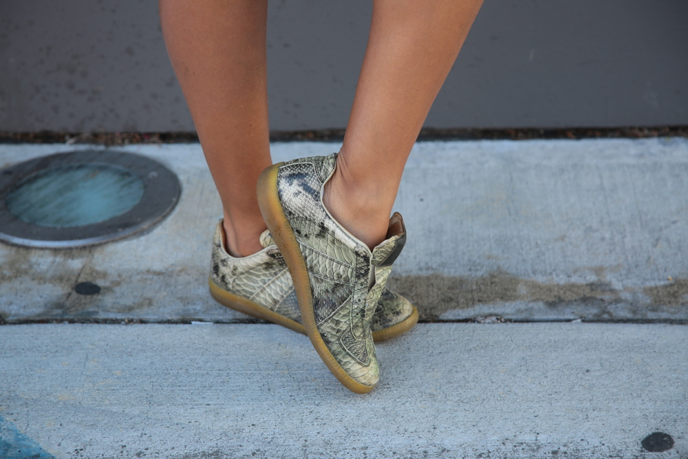VANESSA-BELETIC-MARGIELA-SNEAKER-SNAKESKIN-GREEN-LOS-ANGELES.JPG