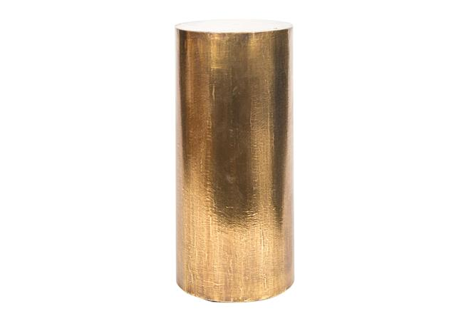 Brass column side table