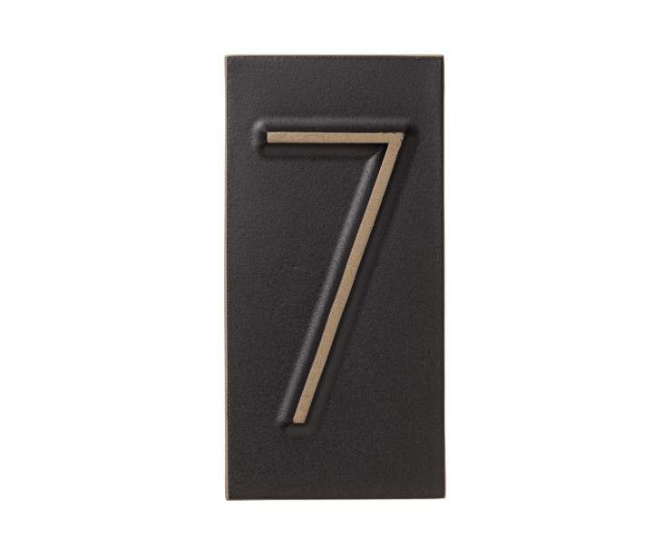 Favorite number? Thinking about using house number tiles as a decorative element… INSIDE