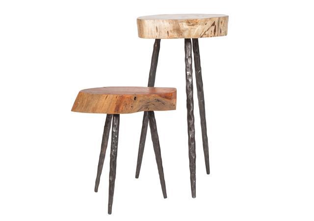 Wood slab stools (or used as side table)