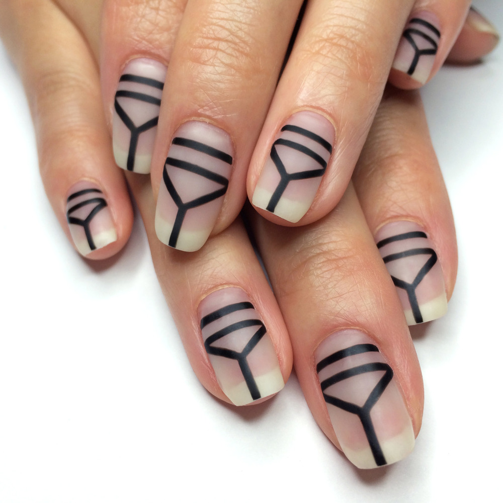 Nail Art Ideas edgy nail art : NAIL ART BY MOOD: NEUTRAL NANCY GETS EDGY — Vanessa Beletic