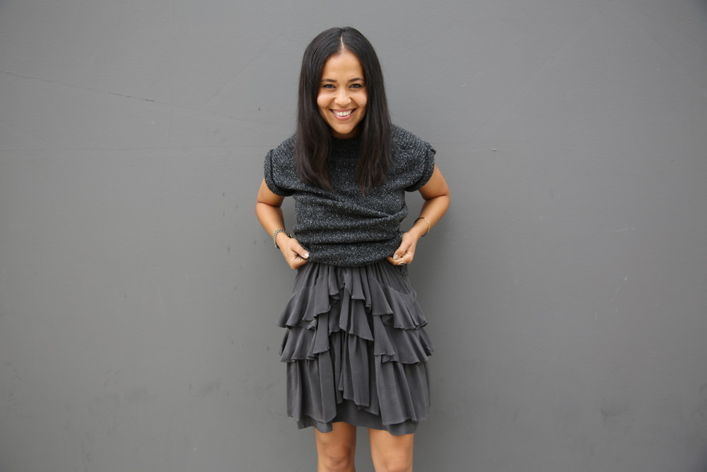 VANESSA-BELETIC-ALL-GREY-ISABEL-MARANT-RUFFLE-DRESS-LOS-ANGELES.JPG