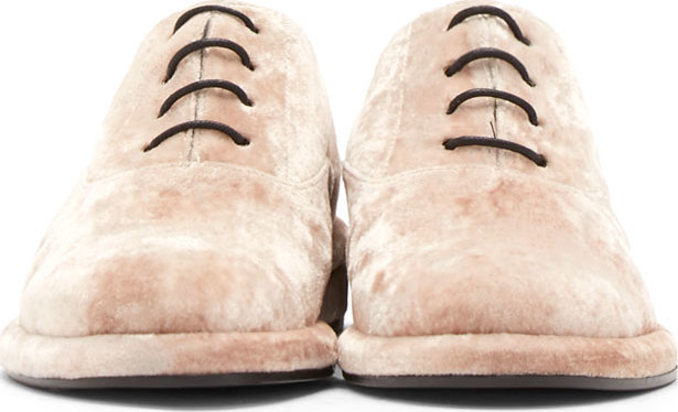 I'm sorry, pink crushed velvet oxfords? What?!