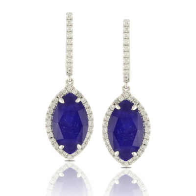 DOVES  Royal Blue Lapis set in white gold with diamonds $2199