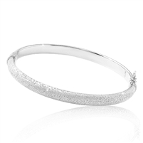 CHARLES GARNIER Sterling silver hinged clasp bangle bracelet  $225