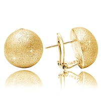 CHARLES GARNIER  Sterling silver/Yellow gold overlay earrings  $105