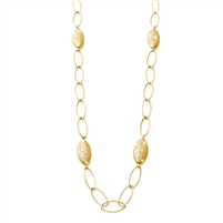 "CHARLES GARNIER   Sterling silver /Yellow gold overlay  22"" Four Pebble Station necklace  $375"