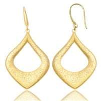 CHARLES GARNIER   Sterling silver / Yellow gold overlay curved drop earrings  $105