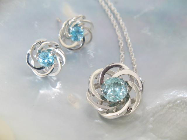 Custom Pendant and Earrings