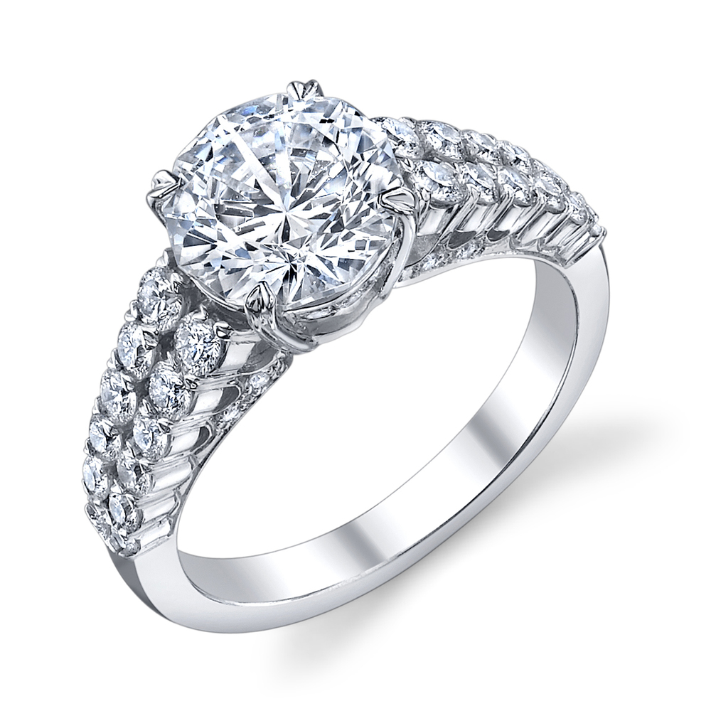 ENGAGED BY HUSAR Style No, RA_327 Split Double Row Engagement Ring Starting at $2749