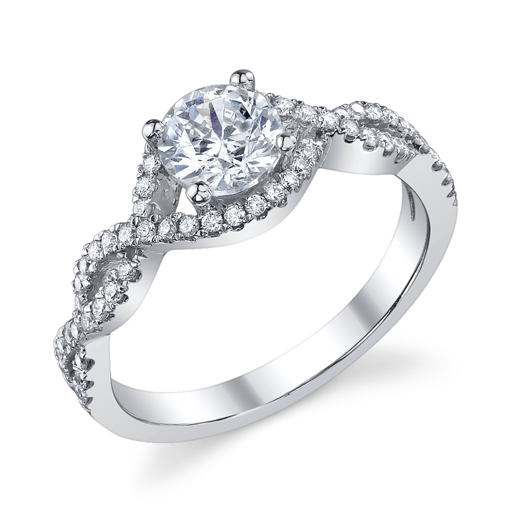 ENGAGED BY HUSAR Style No, RA_081   Crossover Engagement Ring Starting at $1999