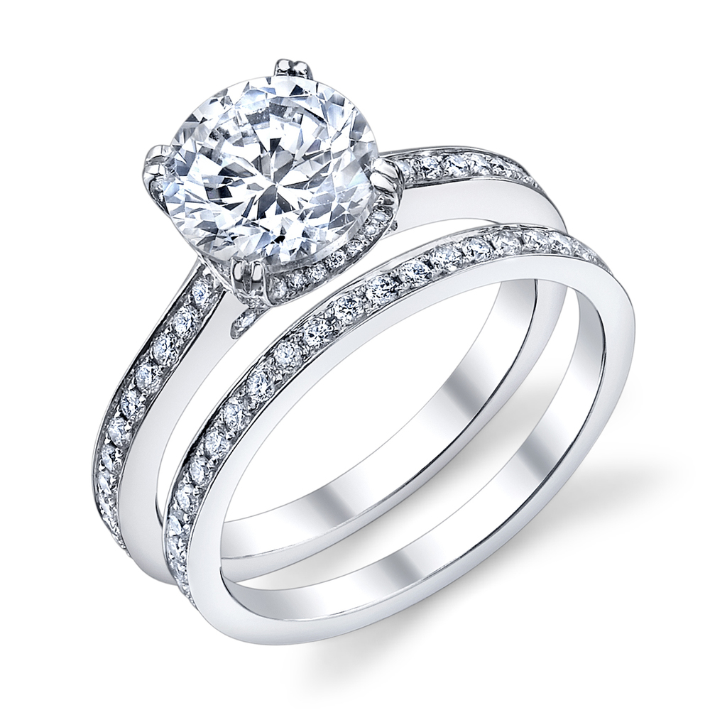 ENGAGED BY HUSAR Style No, R_9633 Bright Edge Style Engagement Ring Starting at $2849