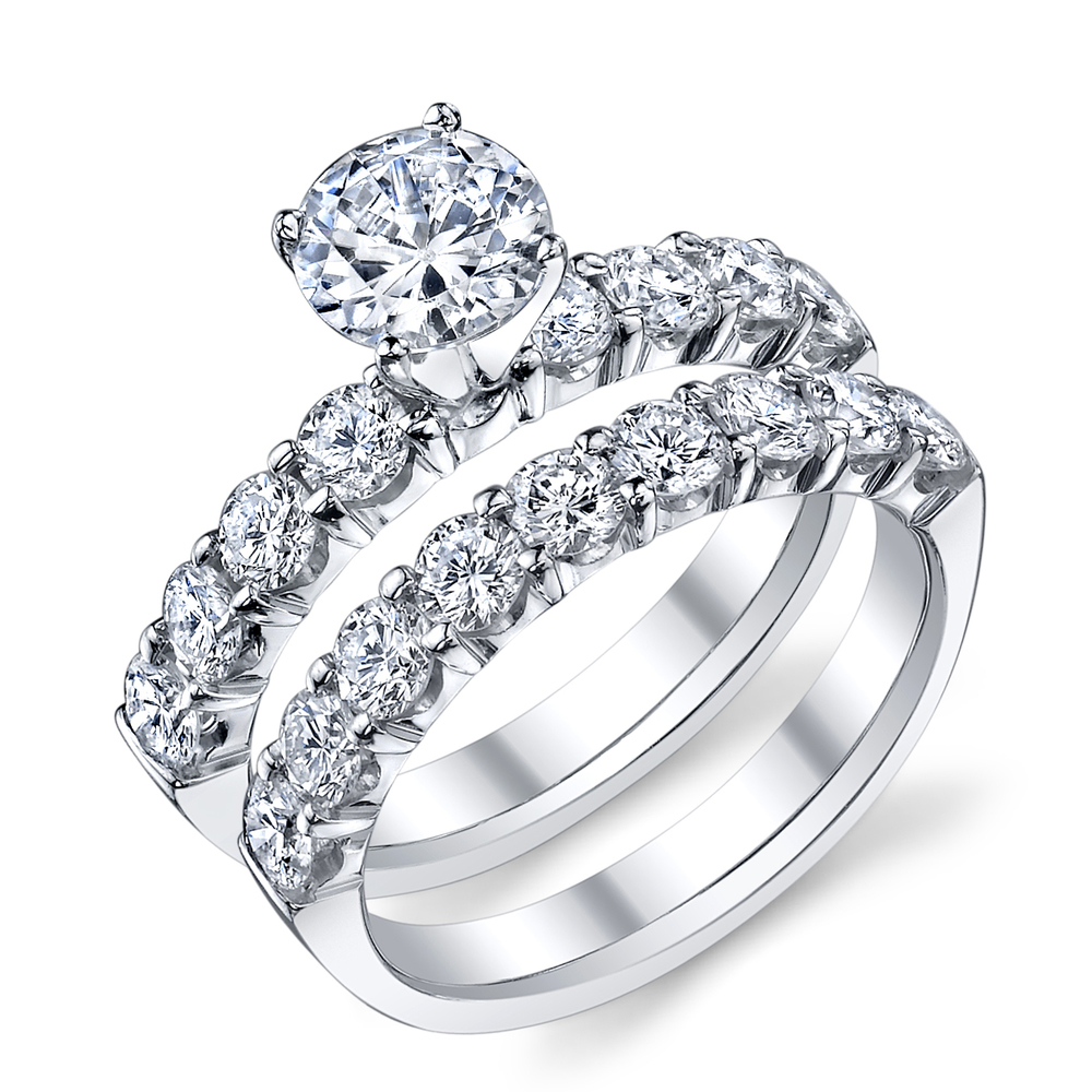 ENGAGED BY HUSAR Style No, R_9440 Traditional Engagement Set Starting at $3149