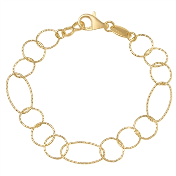 CHARLES GARNIER  Sterling silver / Yellow gold overlay chain link Figaro bracelet $75