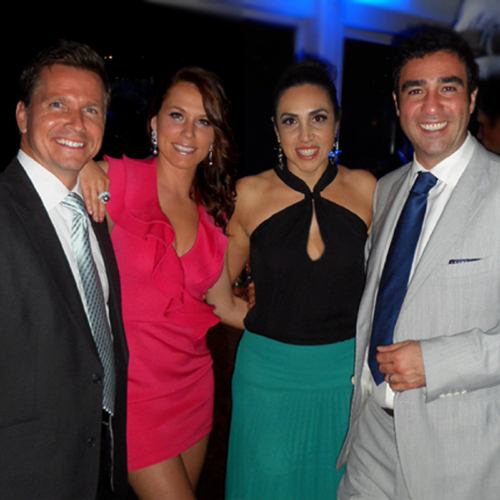 Craig Husar, Becca Janssen, Nadine Tacorian and Paul Tacorian at Club Tacori
