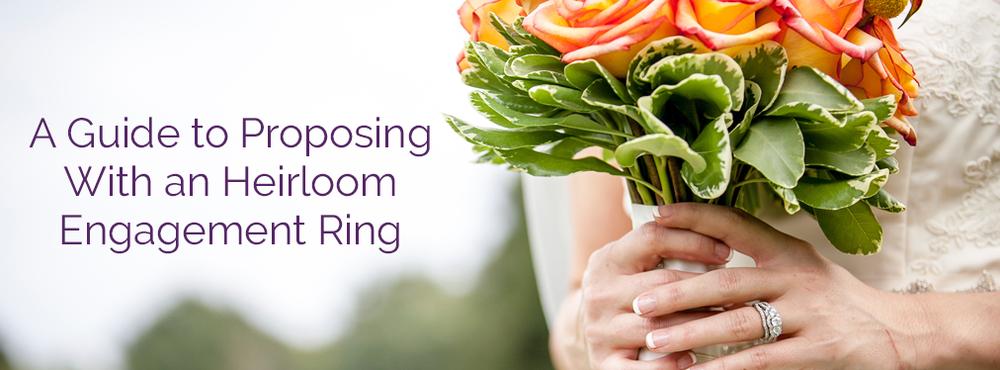Heirloom Engagement Ring Etiquette Lyle Husar Designs Fine