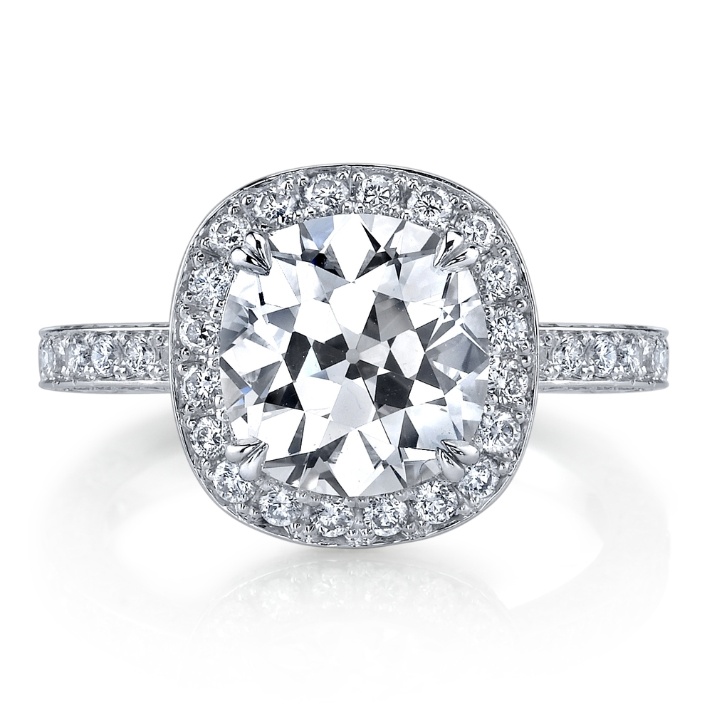 Vintage Husar Signature 3.06 caratEuropean Cut Diamond in hand-crafted 1.33 cttw, platinum mounting. Retail $52,899 Husar Price $42,999