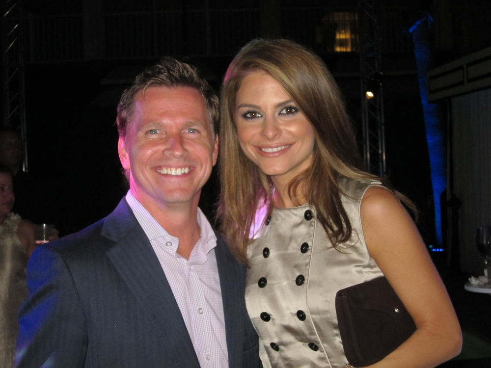 Craig Husar and Maria Menounos at Cirque du Tacori (Viceroy Hotel, Santa Monica, CA)