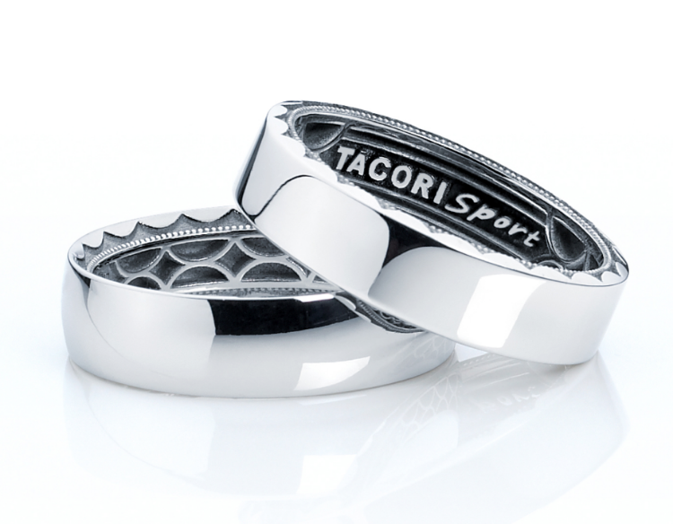 tacori sport band free with purchase of any tacori gentlemens band in either gold - Sports Wedding Rings