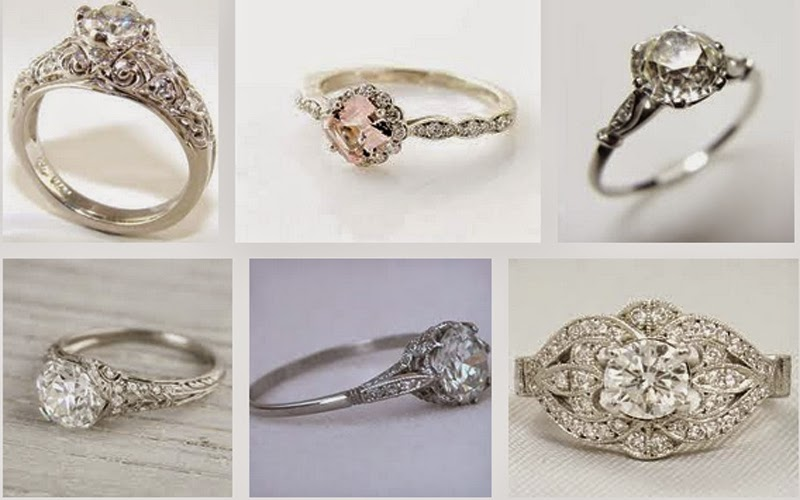 heirloom engagement ring etiquette - Cheap Vintage Wedding Rings