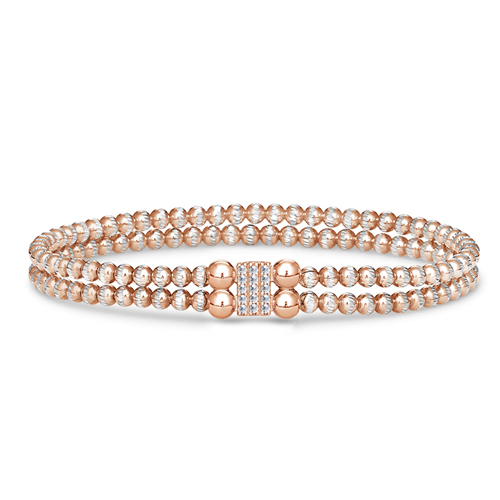 FourKeeps - 2 Row Bracelet, Pave Block - $135
