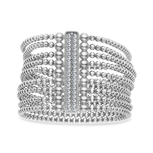 FourKeeps - 9 Row Bracelet, Vertical Bar - $365