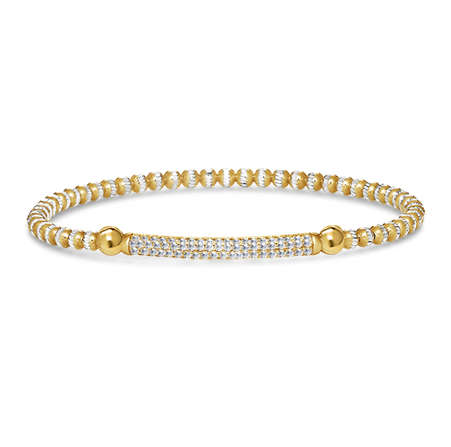 FourKeeps - 1 Row Bracelet, Channel Bar - $90