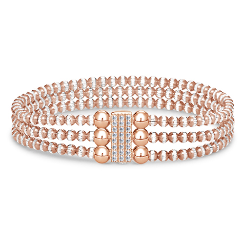 FourKeeps - 3 Row Bracelet, Pave Block - $160