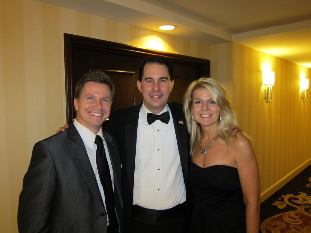 Craig Husar, Governor Scott Walker, Danielle Husar