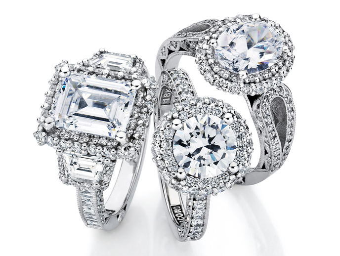 Blooming Beauties Collection by Tacori The Blooming Beauties Collection features not one, but two rows of pavé set diamonds to enhance your center diamond, one higher for a bolder look and the other with a daintier, lower foundation, the Blooming Beauties Collection is unlike any other.