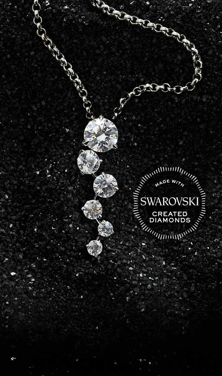 Made with Swarovski Created Diamonds