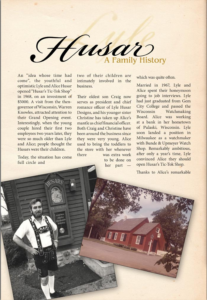 Lyle Husar - A Family History