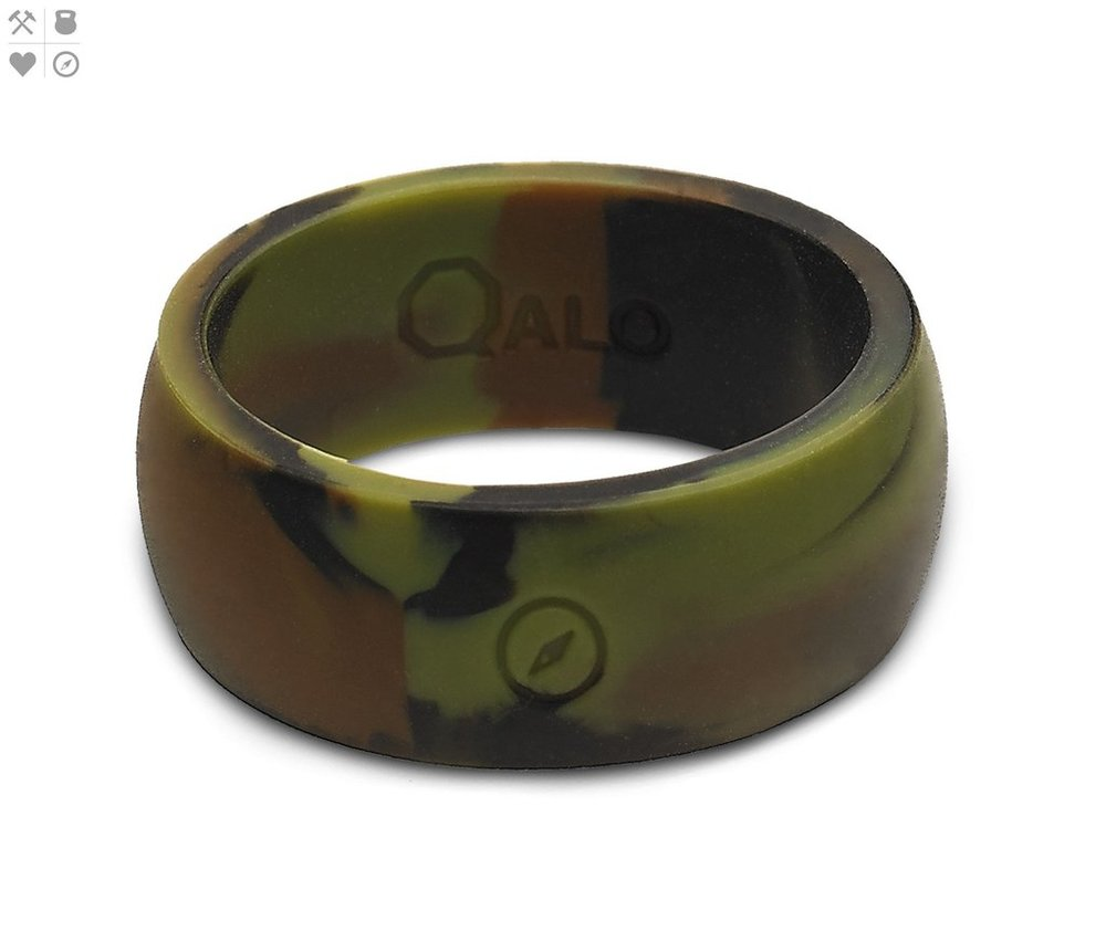 Qalo Men's Camo Silicone Ring $19.95