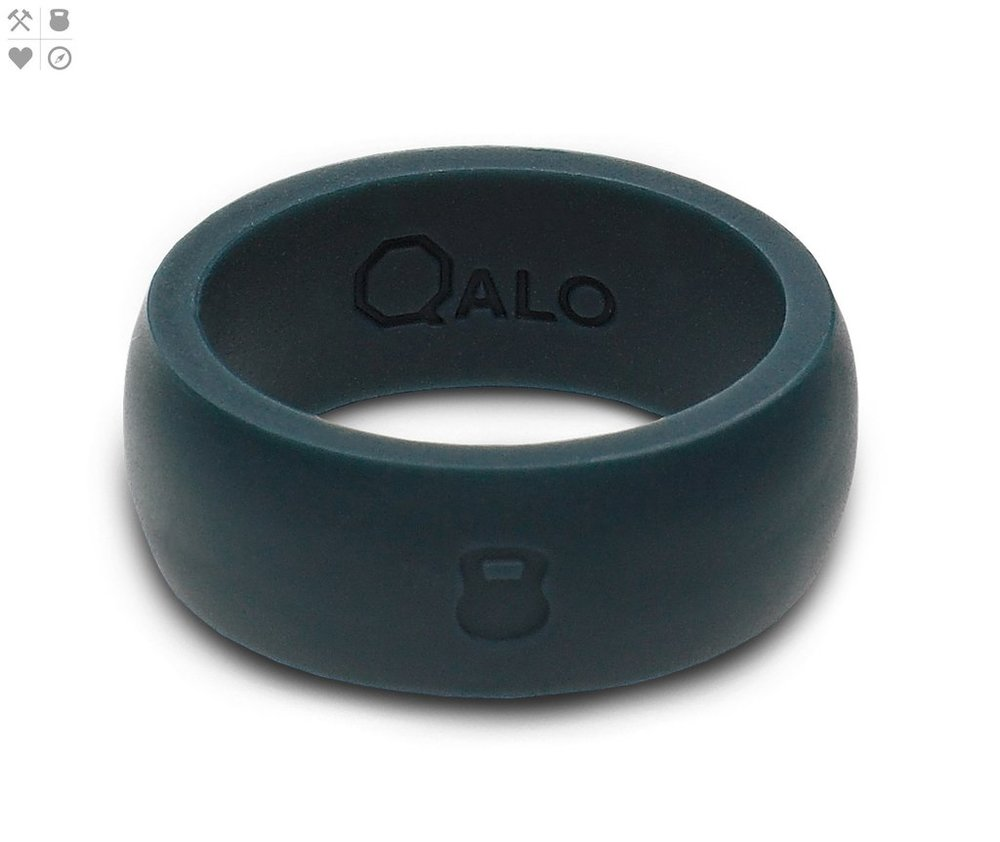 Qalo Men's Slate Grey Silicone Ring $19.95