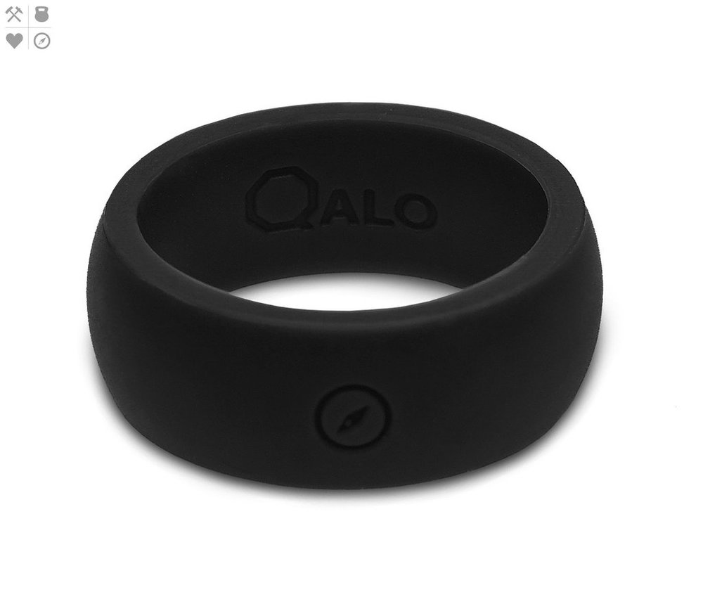 Qalo Men's Black Silicone Ring $19.95