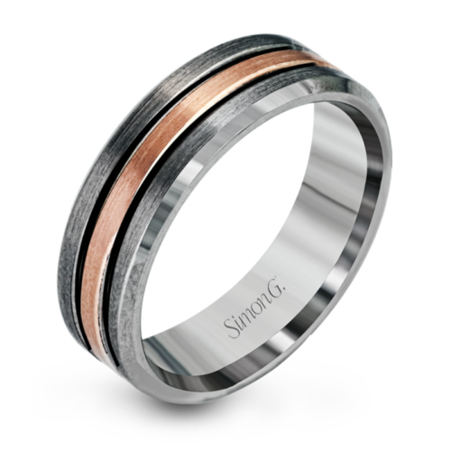 band mens bands rose black gold manworksdesign tone with two beautiful diamonds tungstenband com wedding