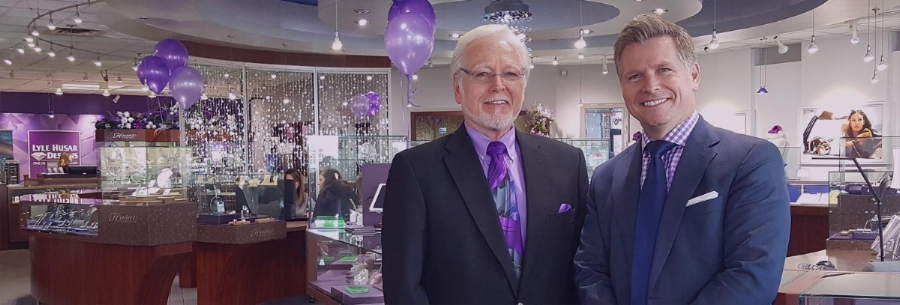 Lyle Husar Designs, Fine Diamonds & Jewelry, 17395 W. Bluemound Road, Brookfield, WI 262-789-8585 Founder Lyle C. Husar with President, Craig Husar