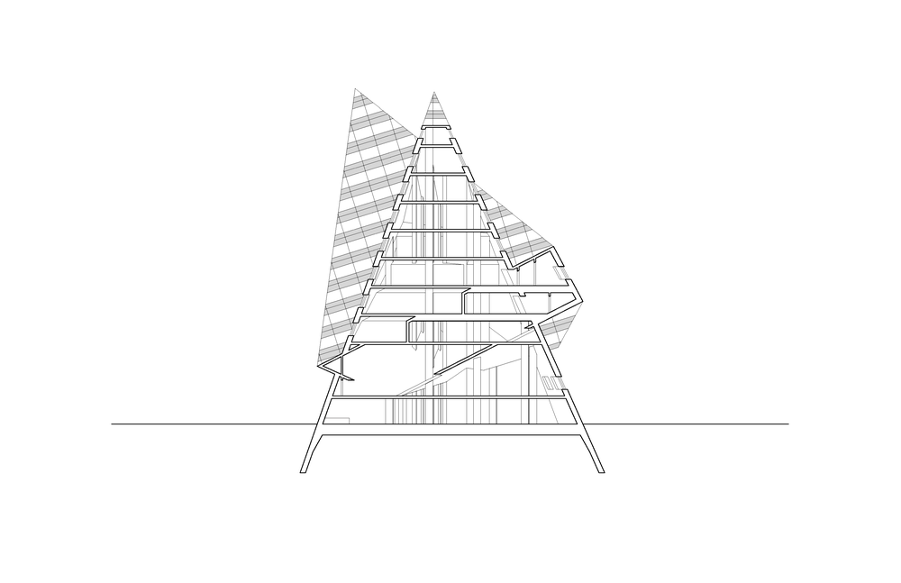 pyramid building section
