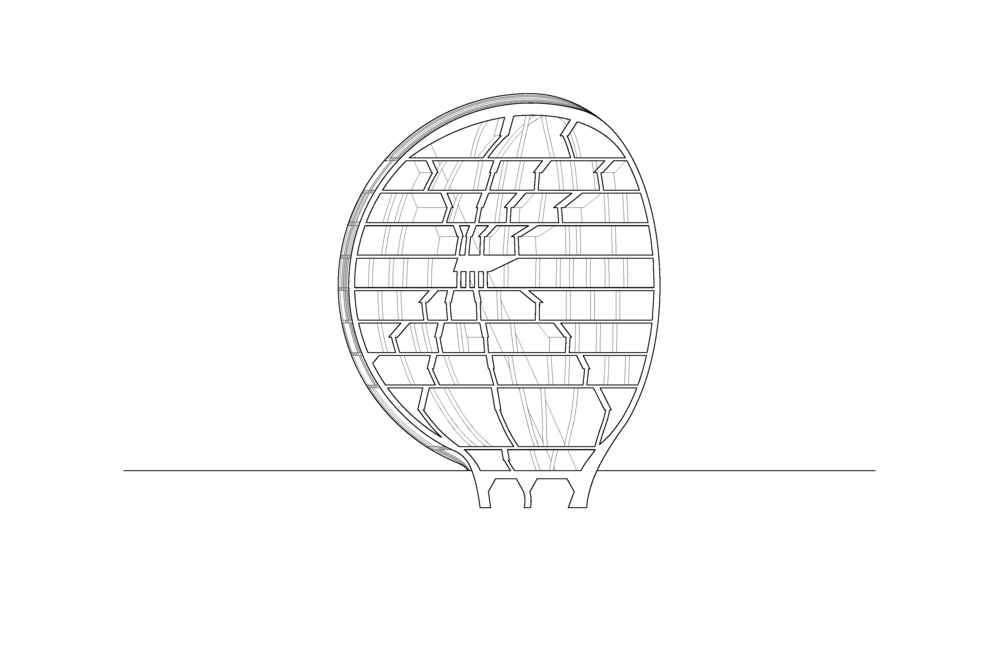 sphere building section