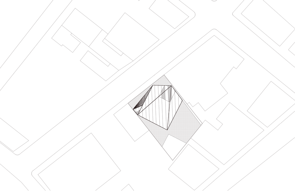cube building roof plan