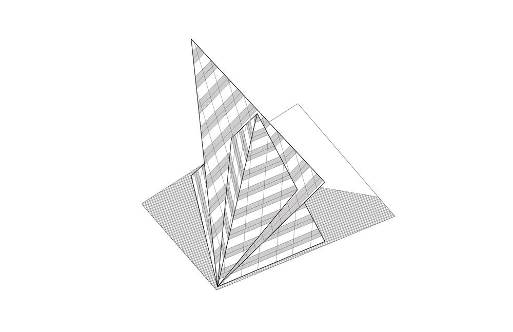 pyramid building axon