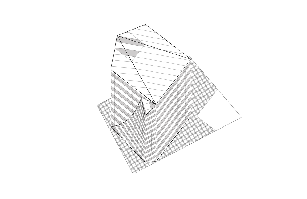 cube building axon