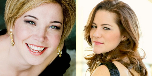 From left to right:   SEMIRAMIDE's    SUSANNAH BILLER    and   cinderella's  megan marino