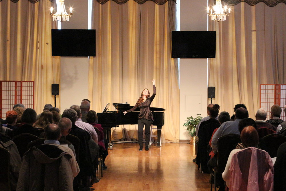 In recital at the OperaDelaware Studios, 2017