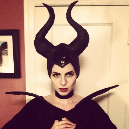 Sivan as Maleficent, Halloween 2014.