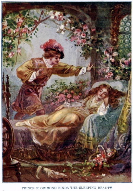 """Prince Florimund Finds the Sleeping Beauty."" Project Gutenberg etext 19993, Public Domain image."