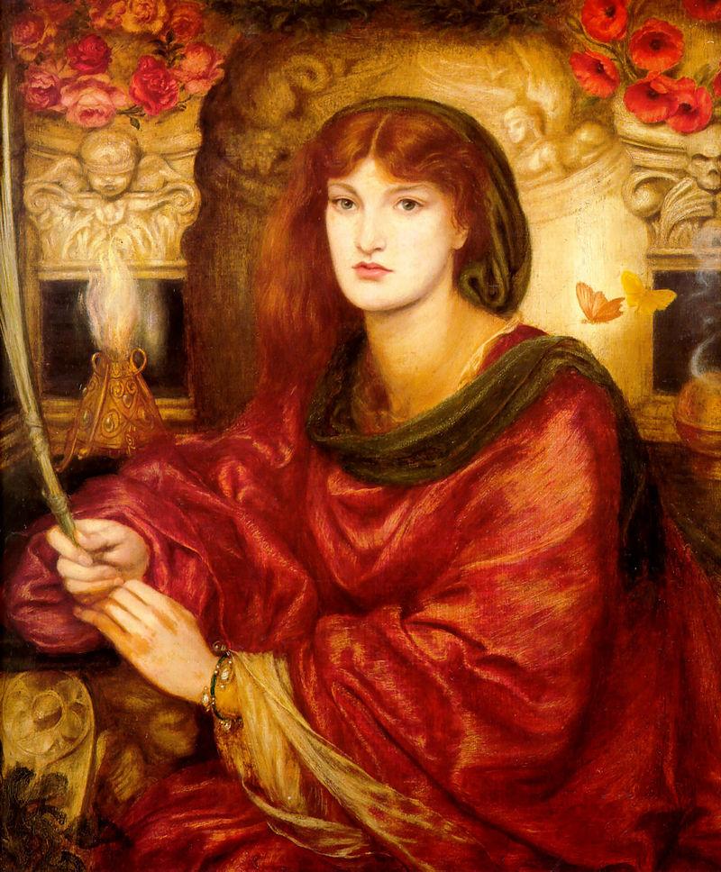 """Lady Lilith"" by Dante Gabriel Rossetti, 19th c. Public Domain image."